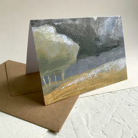 Dark Clouds - Peak District art greeting card