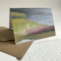 Stormy Hillside - Peak District inspired greetings card
