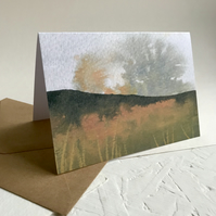 Autumn Moorland bracken - greeting card