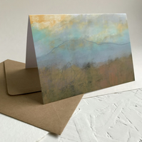 Blue Mountain Moorland - Peak District inspired greeting card