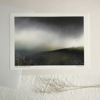 Dark Moorland Rain - Signed Art Print