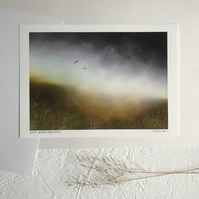 Dark Moorland Mist - Signed Peak District landscape Art Print