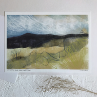 Hathersage Moor from Longshaw - Signed Peak District Art Print