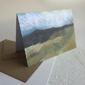 Hathersage Moor from Longshaw - Peak District greeting card