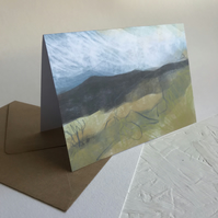 Hathersage Moor from Longshaw - greeting card