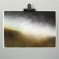 Dark Moorland Mist - Peak District landscape Art Print