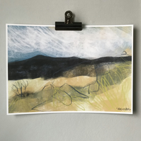 Hathersage Moor from Longshaw - Peak District Art Print
