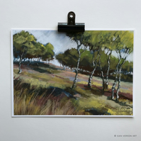Birch Trees, Hathersage Moor - A4 art print