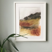 Curbar Edge I - ORIGINAL Peak District Landscape painting, Derbyshire wall art