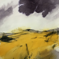 Autumn Glow - ORIGINAL Peak District Landscape painting, Derbyshire wall art