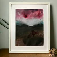 Storm over the Dark Peak - ORIGINAL Peak District Landscape painting