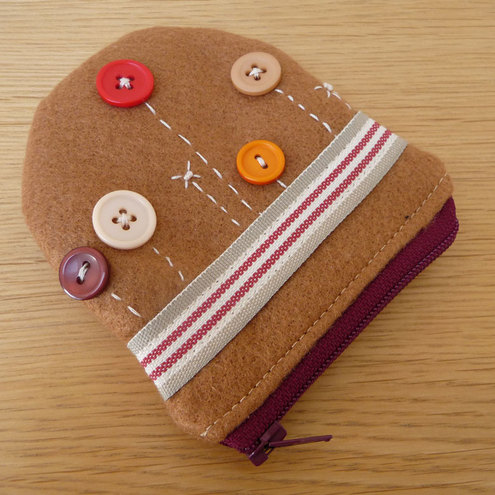 Buttons on Brown Coin Purse