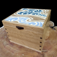 Wooden Jewellery Box River Flow