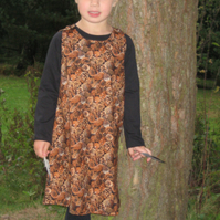 HALF PRICE - Woodland Pine Cones Dress