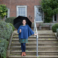 'For Grown Ups'  Autumn Peacock Feather Corduroy Cape
