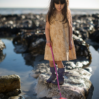 SALE - Footprints in the Sand Dress for Girls and Babies