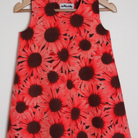 Pink Sunflowers Dress for Girls and Babies