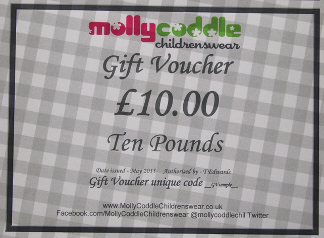 Ten Pounds Gift Voucher Card