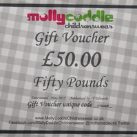 Fifty Pounds Gift Voucher Card