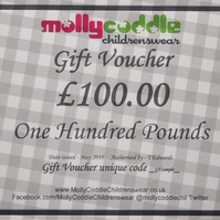 One Hundred Pounds Gift Voucher Card