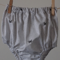 Pinstripe Spider Bloomers for Babies and Toddlers