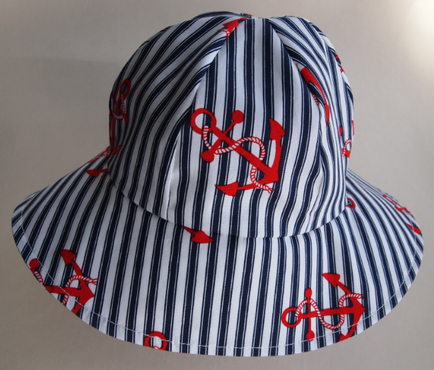 SALE - Baby Nautical Anchor Sun Hat