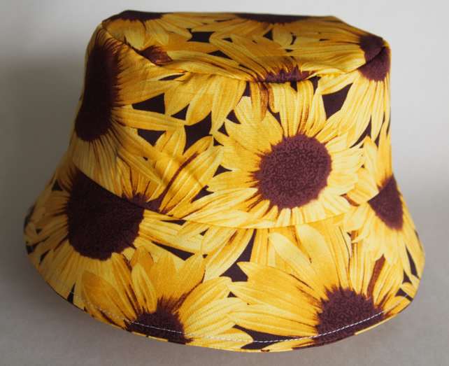 Junior Sun Hat Yellow Sunflowers