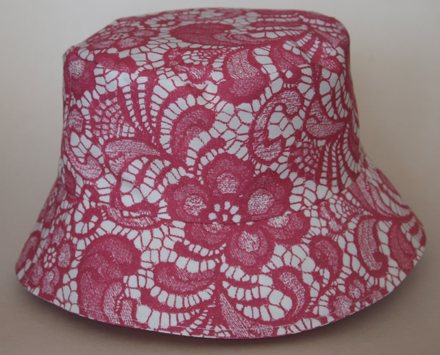 SALE - Junior Sun Hat Filigree Lace Print