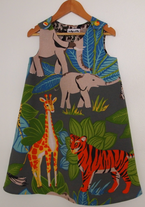 SALE - Jungle Wild Things Pinafore Dress