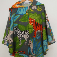 SALE - Jungle Wild Things Cape
