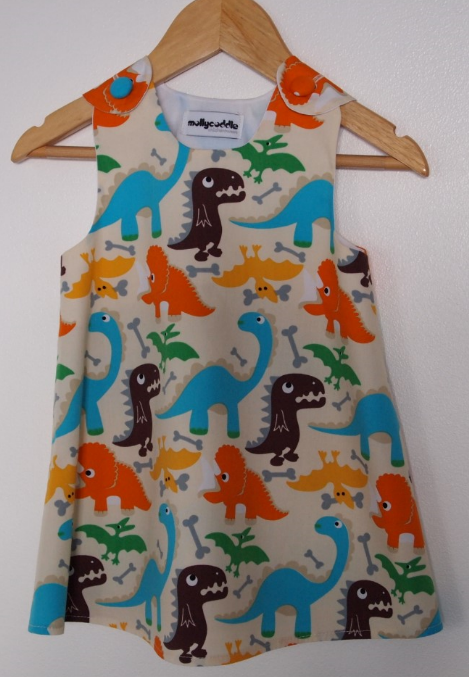 SALE - Friendly Dinosaur Summer Dress