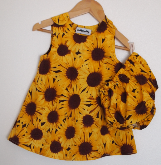 Sunflower Baby Summer Dress and Bloomers