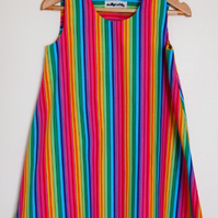 SALE - Stripey Rainbow Summer Dress