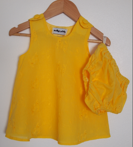 SALE - Broderie Anglais Baby Summer Dress and Bloomers
