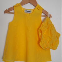 Broderie Anglais Baby Summer Dress and Bloomers