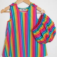 SALE - Rainbow Baby Summer Dress and Bloomers