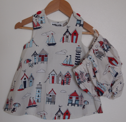 SALE -  Baby Seaside Beach Huts Summer Dress