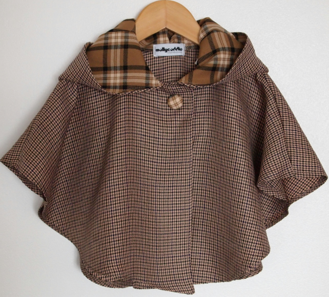 SALE - Country Style Baby Tweedy Cape