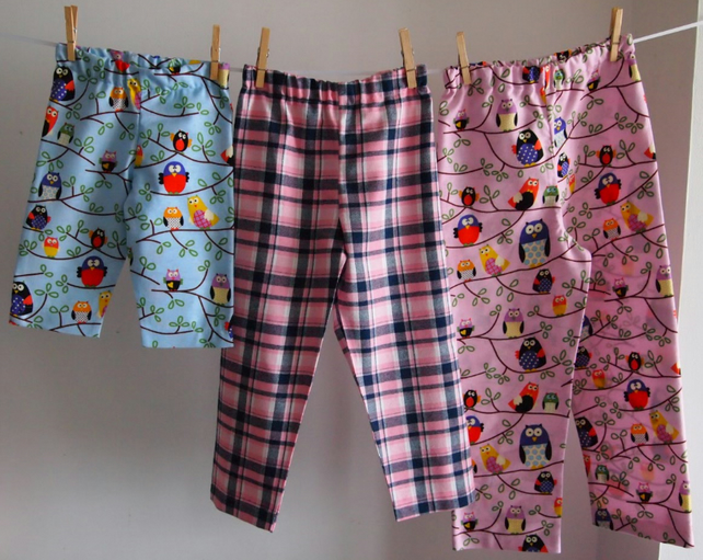 Coordinating Pyjama Trouser Bottoms, 100% Cotton Winceyette