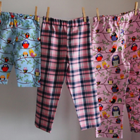 REDUCED - Coordinating Pyjama Trouser Bottoms, 100% Cotton Winceyette