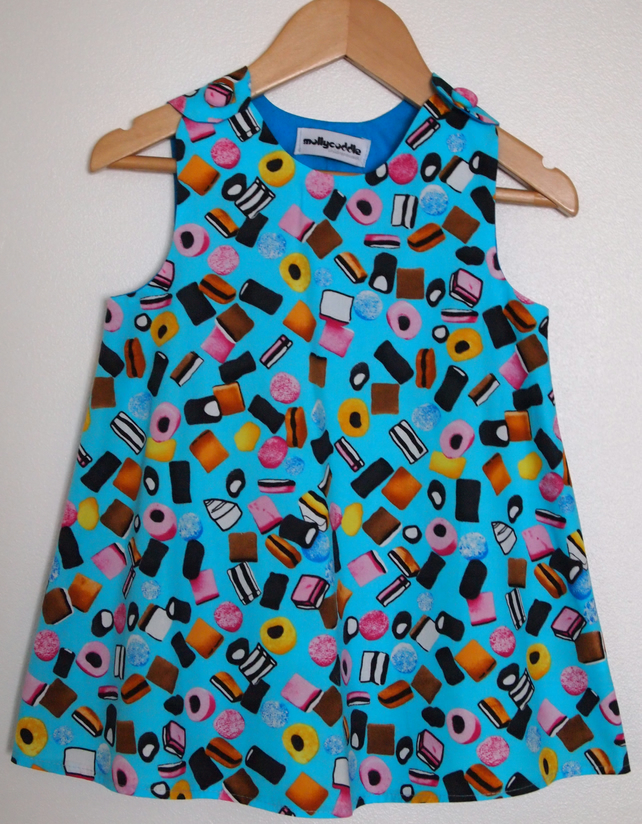 SALE - Turquoise Blue Liquorice Allsorts Candy Sweet Summer Dress