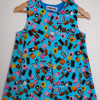 Turquoise Blue Liquorice Allsorts Candy Sweet Summer Dress