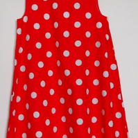 SALE - Classic Polka Dot Red Summer Dress for Girls