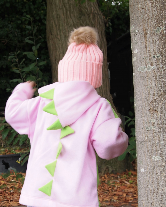Dinosaur Dragon Powder Pink Hoodie Jumper