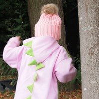 SALE - Dinosaur Dragon Powder Pink Hoodie Jumper