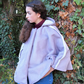 Faux Suede Lilac Shearling Adult Cape