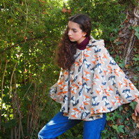 Fawn Foxy Fox Fleece Cape
