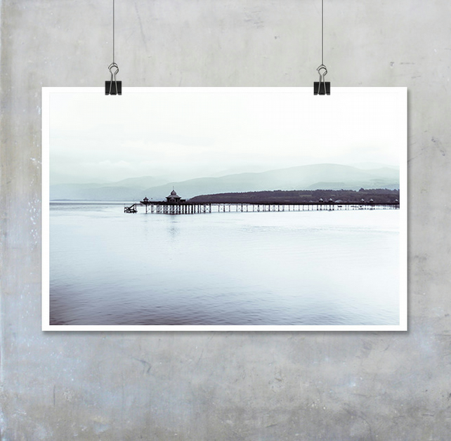 Bangor Pier Calm Sea Photograph