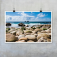 Cape Cornwall beach and sea photographic print