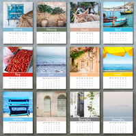 2019 Images of Crete photo calendar 5x7 month per page